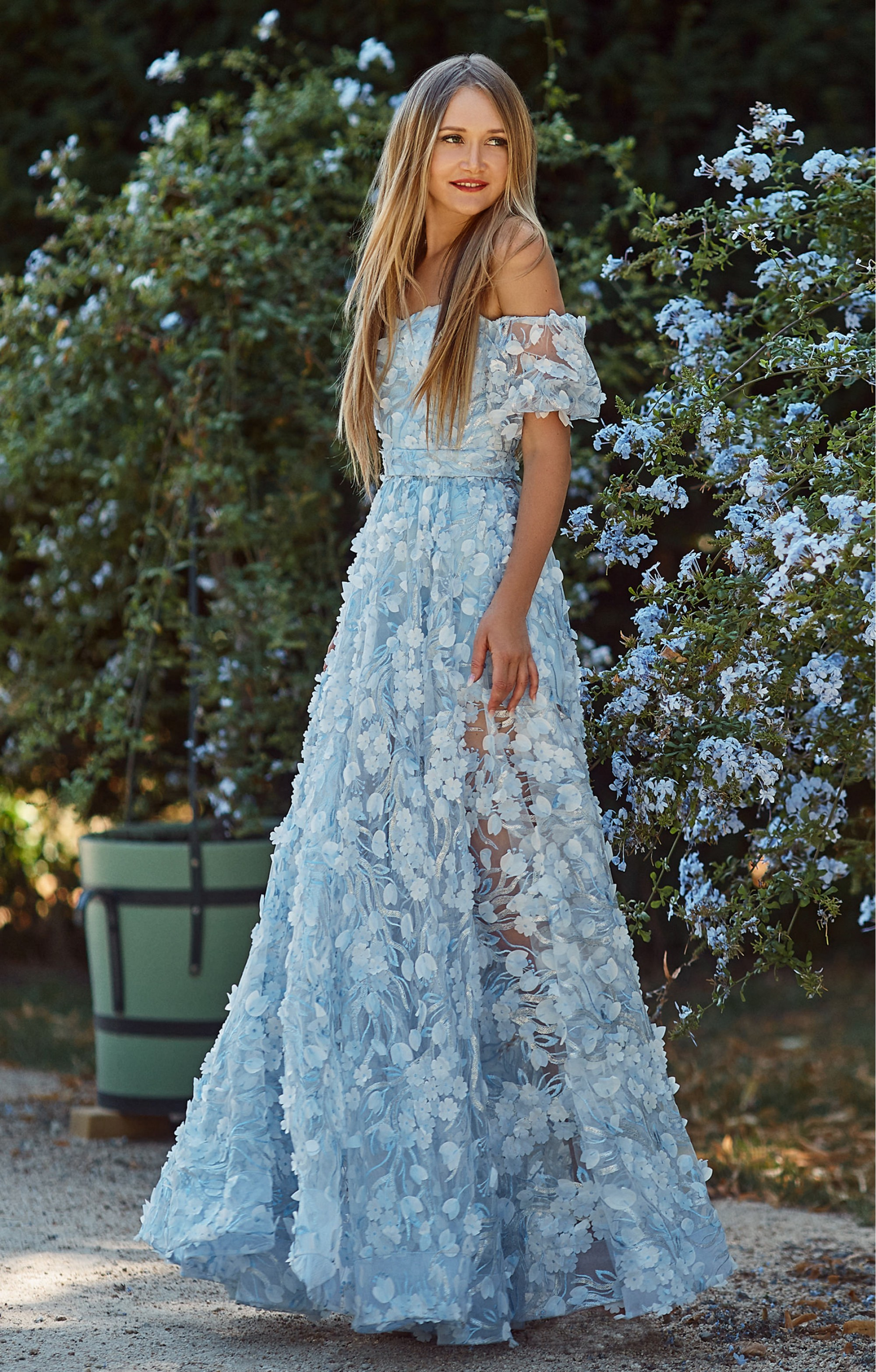 "Abendkleid ""Loreen"" Blau"