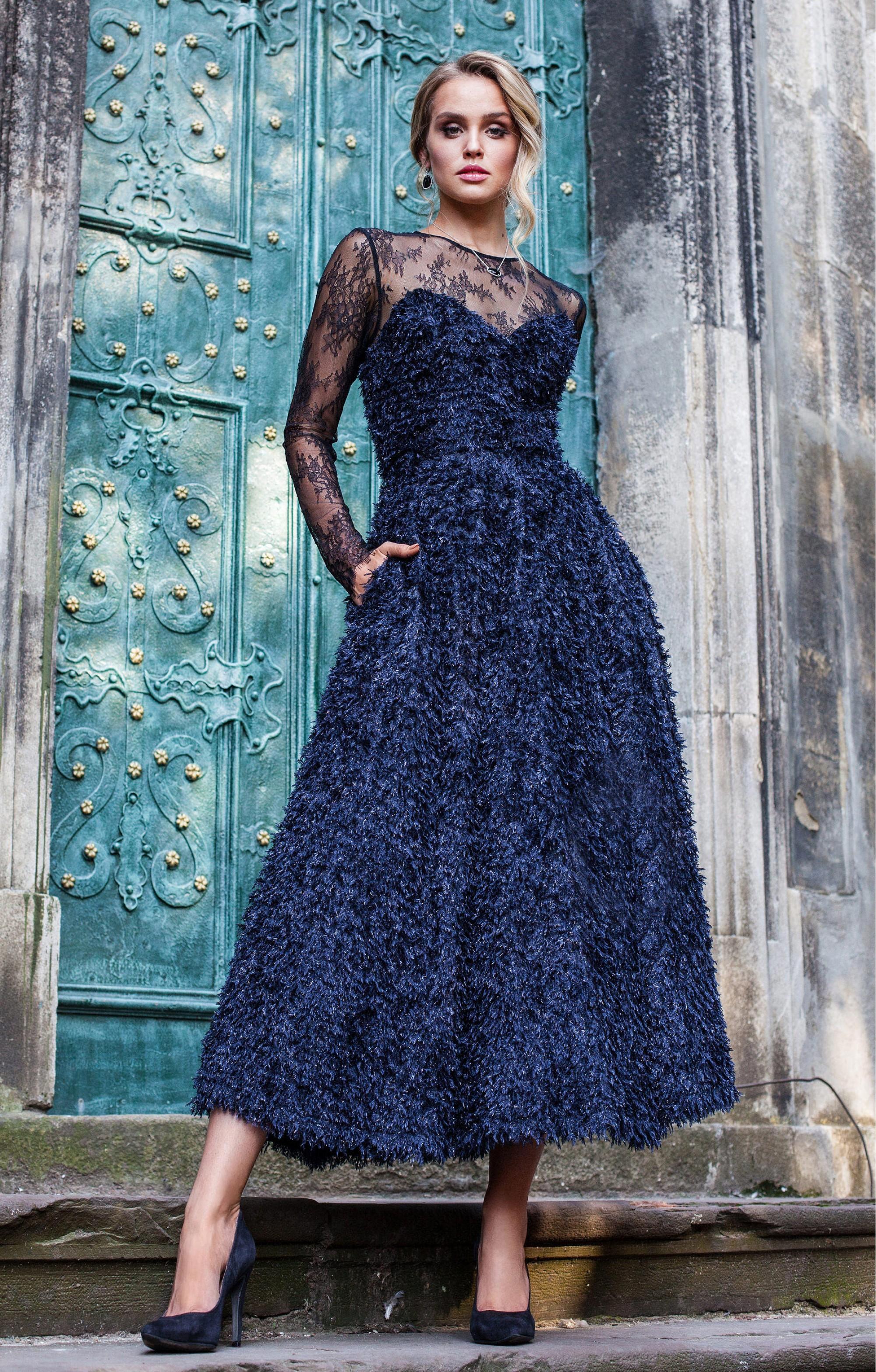 """Abendkleid """"Sylke"""" Blau"""