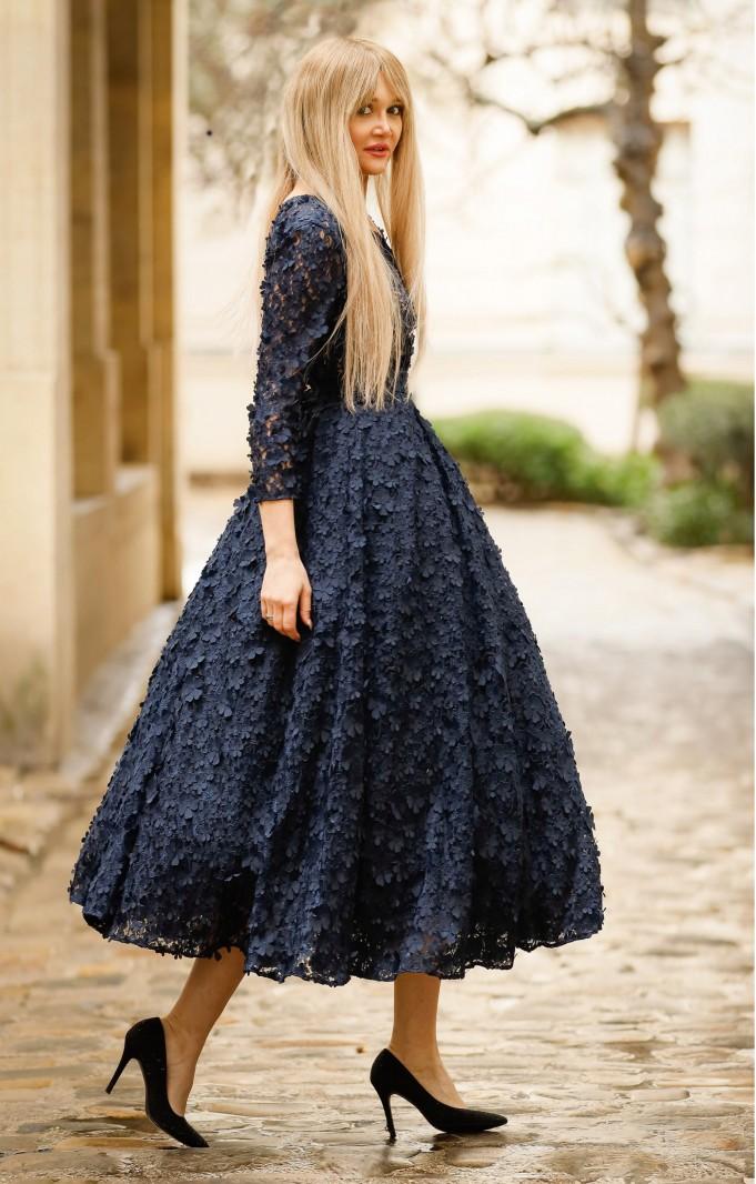 "Cocktail dress ""Jasmin"" Dark Blue"