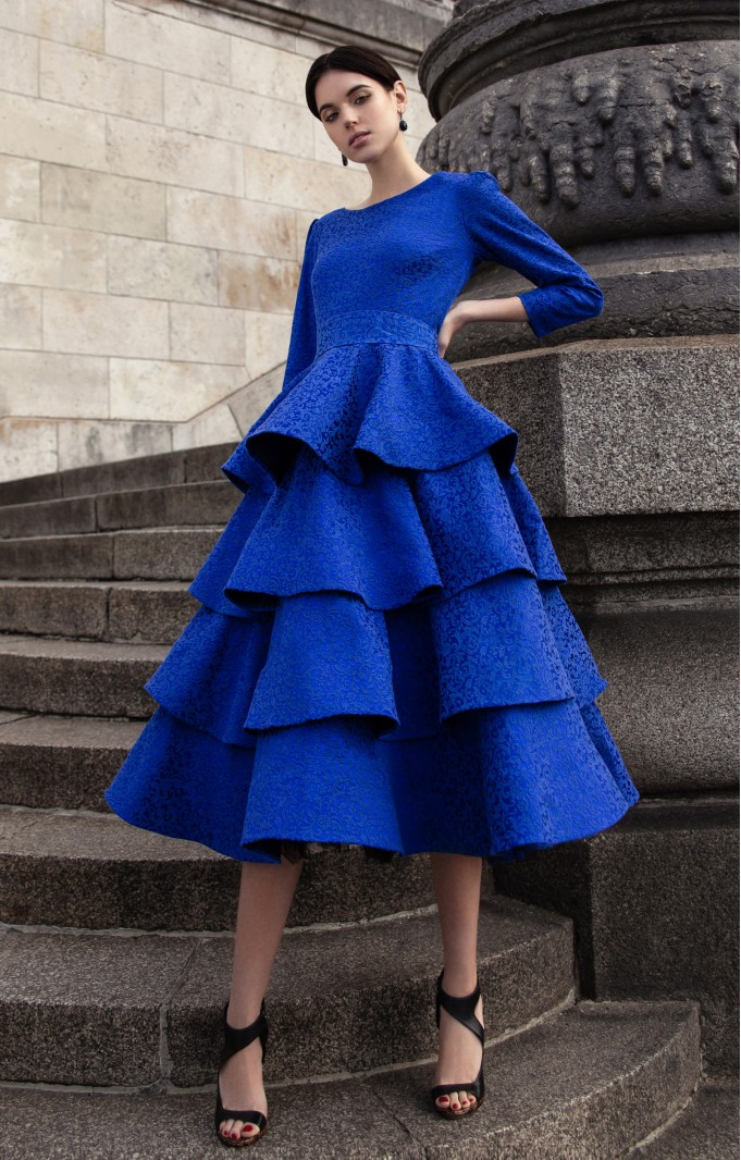 """Transformer Dress-Blouse  """"Jacqueline"""" Blue"""