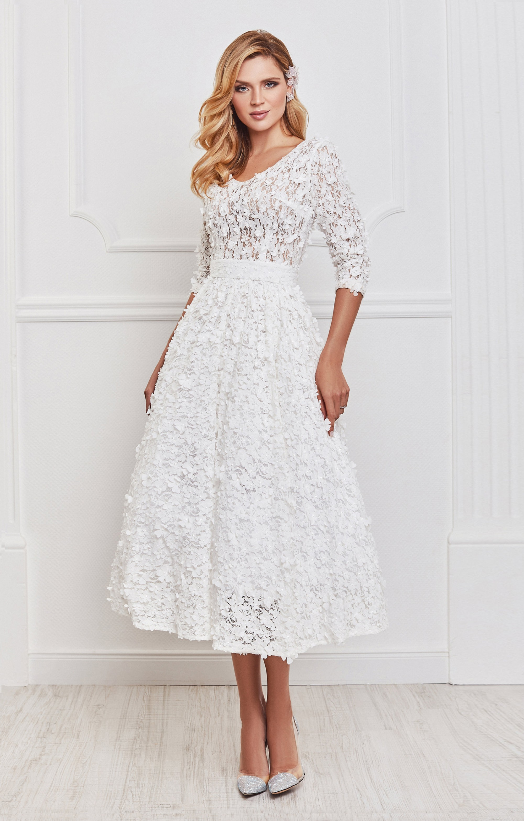 """Kleid """"Jasmin"""" Weiß"""