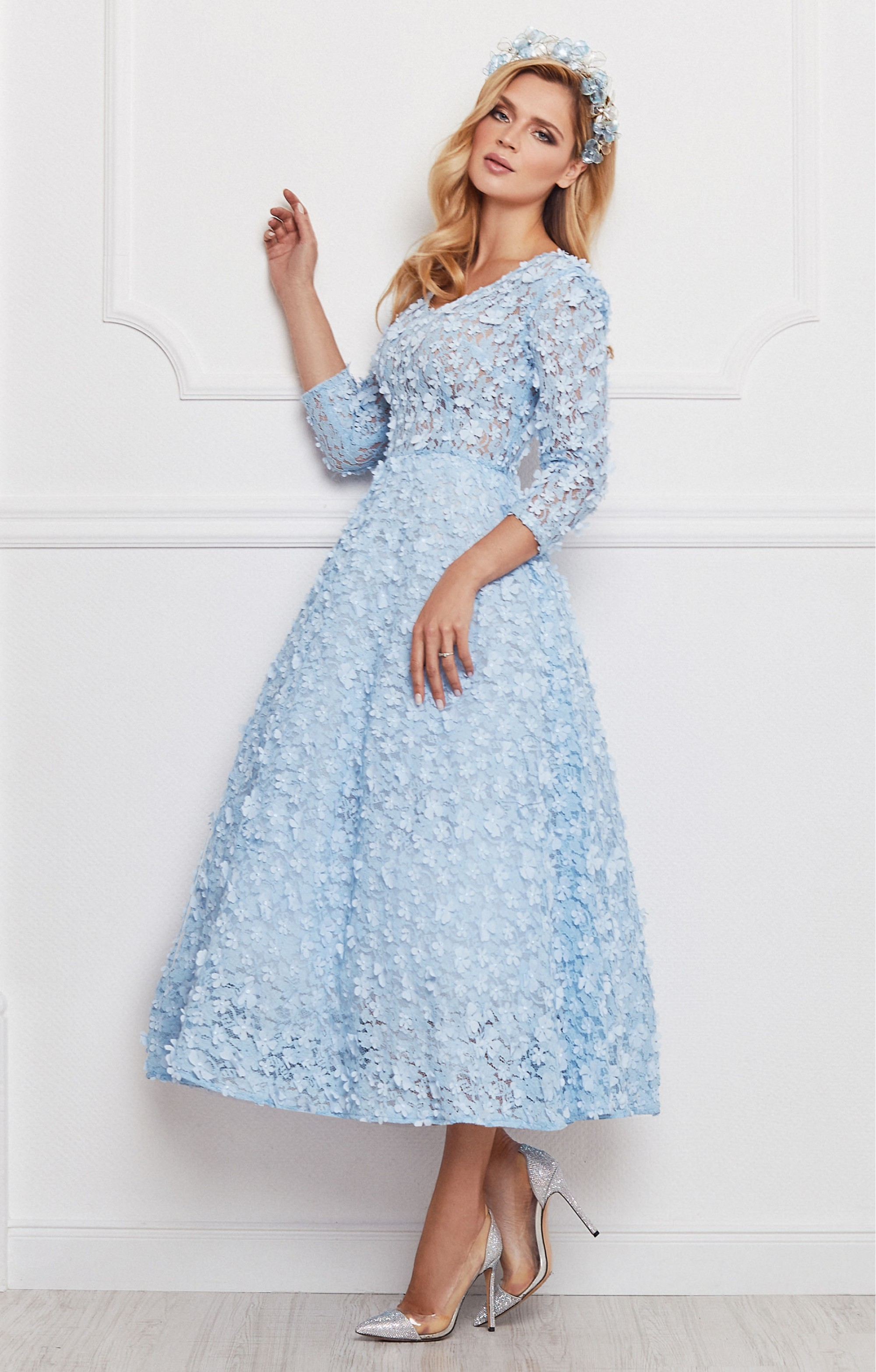 """Kleid """"Jasmin"""" Hellblau"""