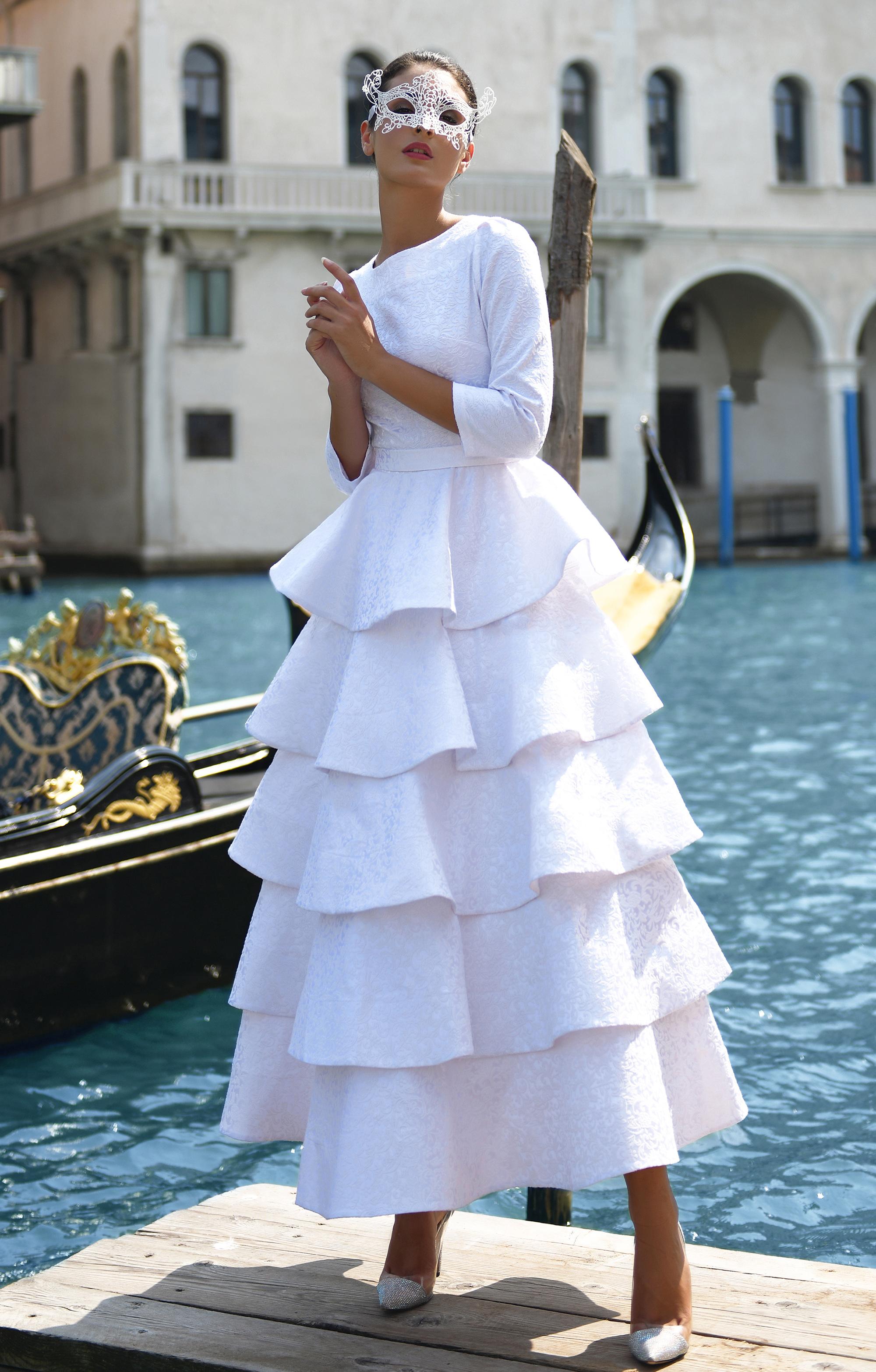 "Wedding Dress-Blouse 5 in 1 ""Jacqueline"" White"