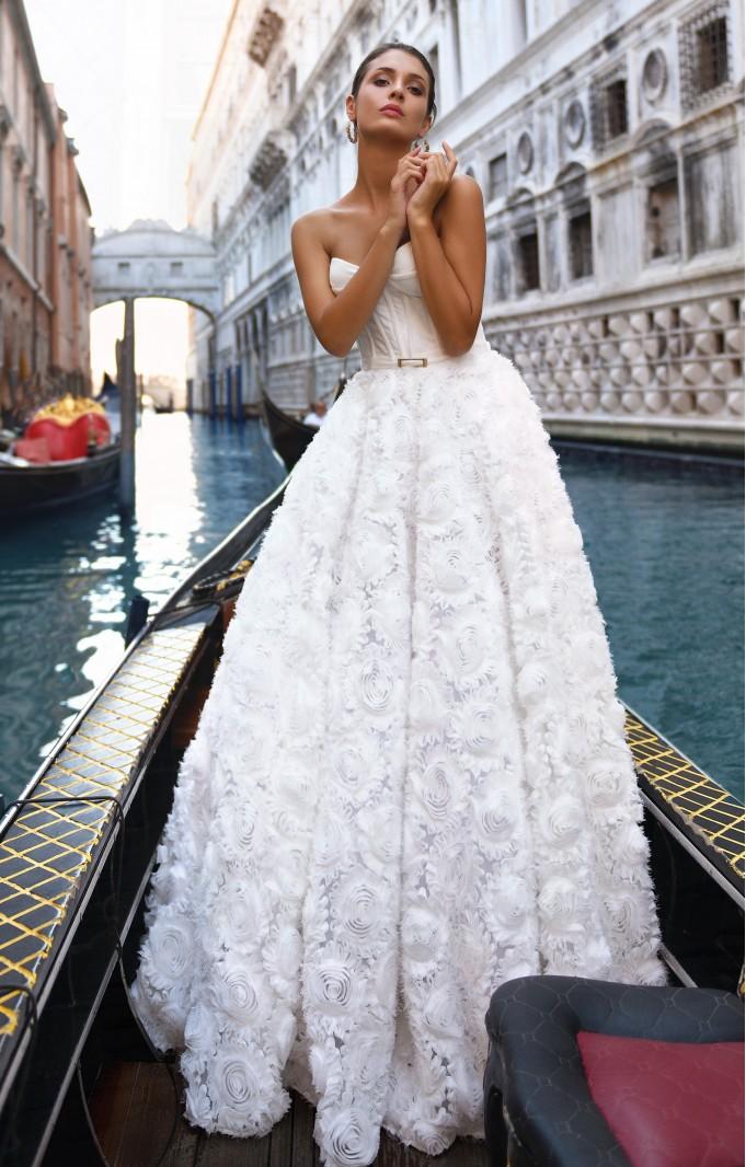 """Brautkleid """"Weiße Rose"""" Weiß"""