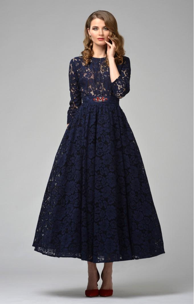"Lace dress ""Vicktoria"" Blue"