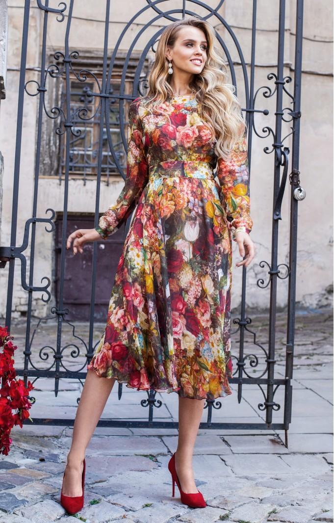 """Silk dress """"Flora"""""""