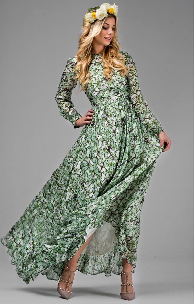 """Abendkleid aus Seide """"Michelle""""  Grün"""
