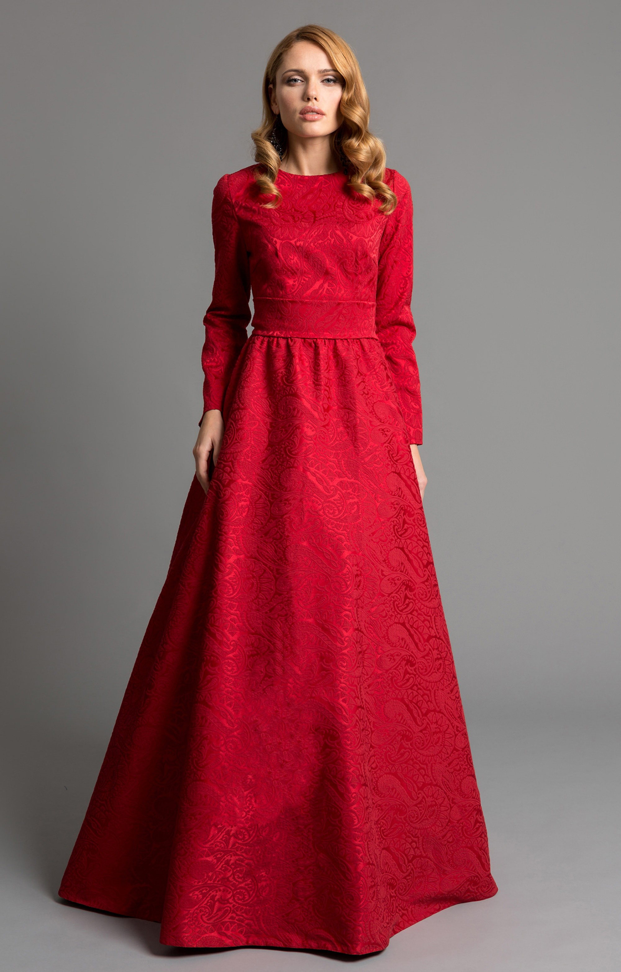 """maxi dress """"isabel"""" red"""