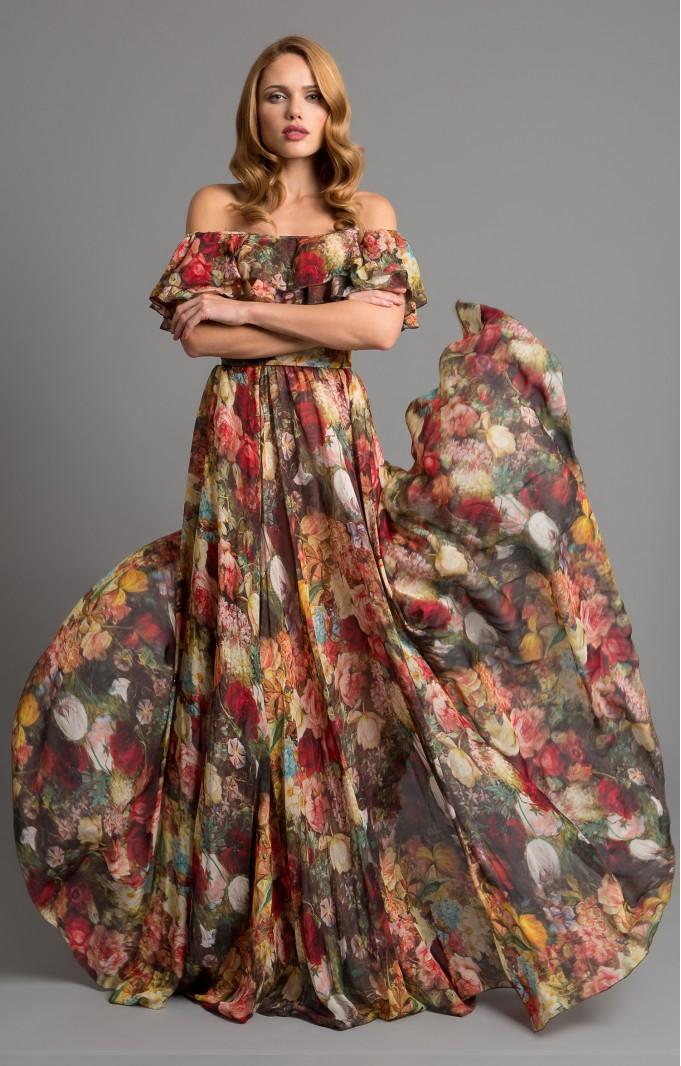 """Silk dress """"Margo"""" Red"""