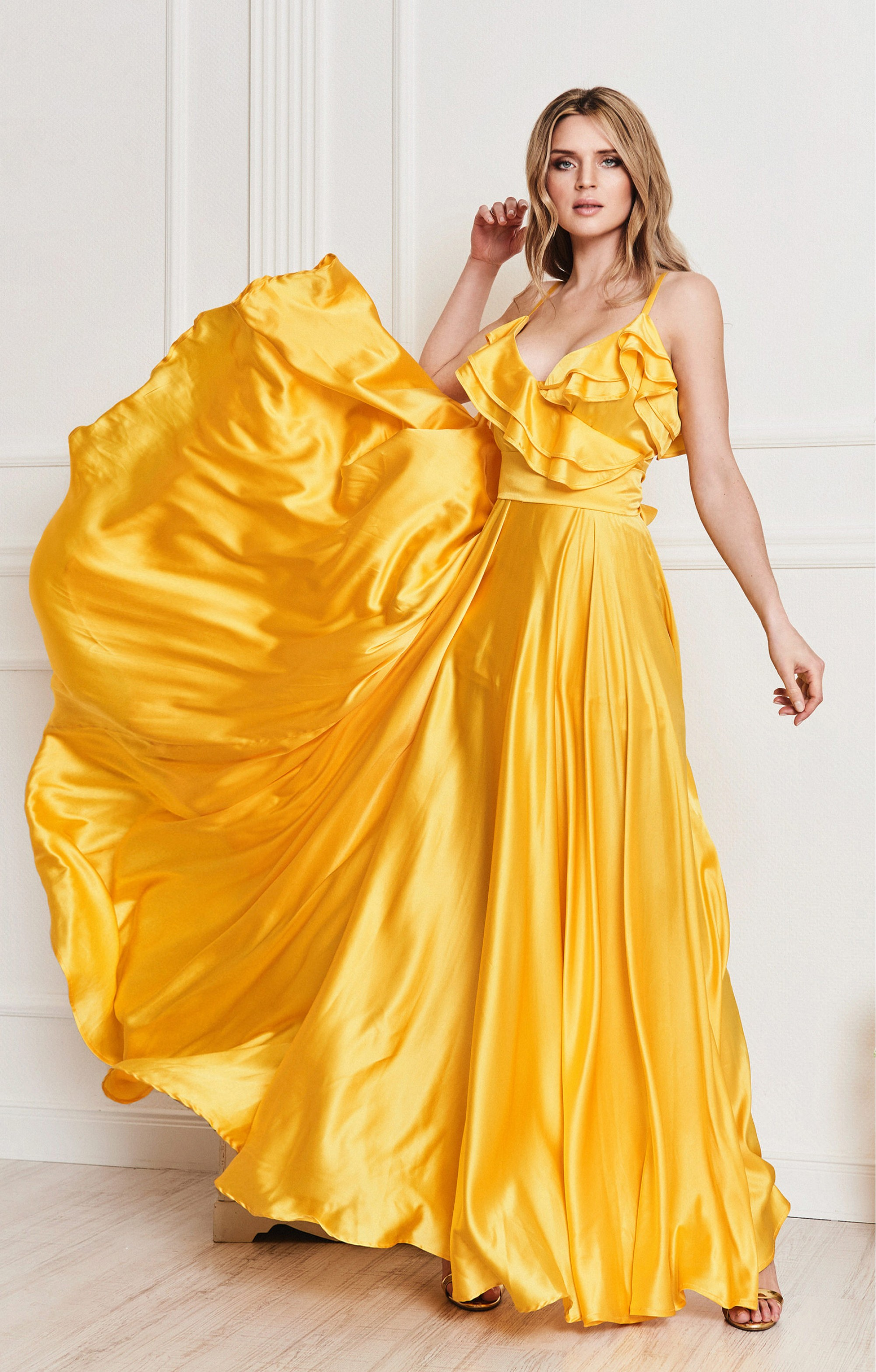 """Seidenkleid """"Jolanthe"""" Gelb"""