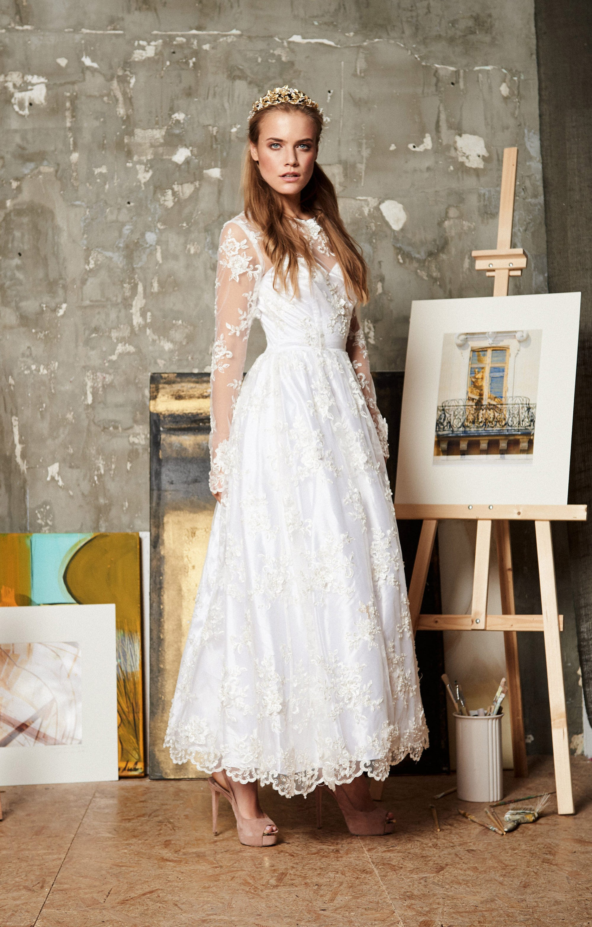 "Wedding dress ""Thea"" Midi"