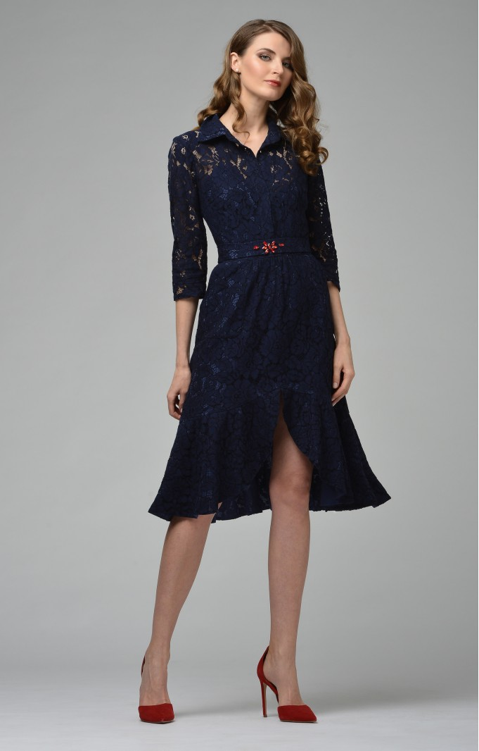 "Midi lace dress ""Leslie"" Blue"