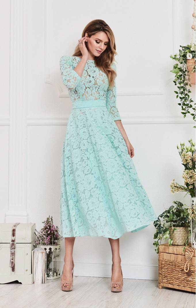 "Lace dress ""Vicktoria"" Mint"