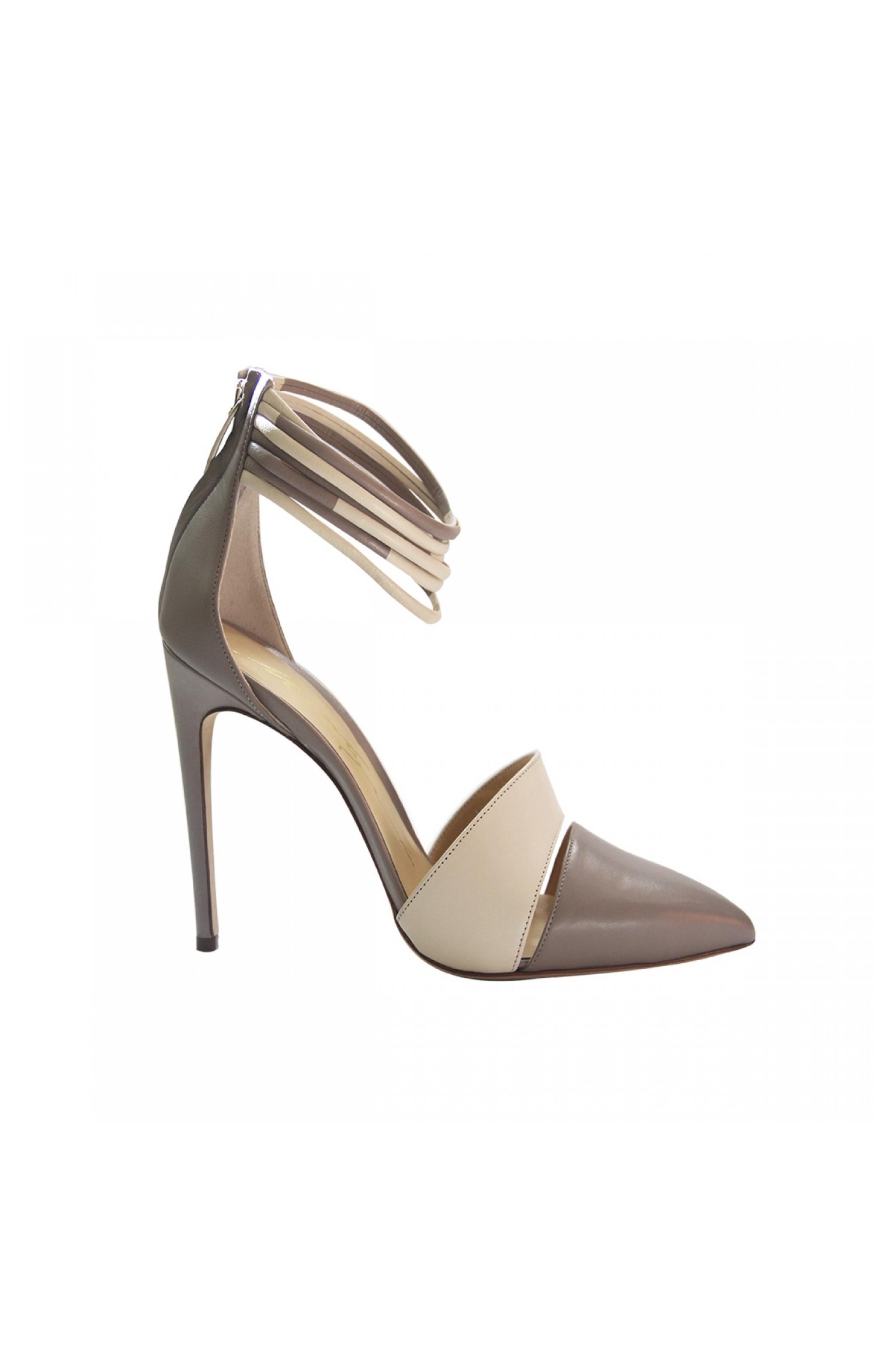 Merlyn Leder High Heels NAPPA TAUPE / Beige