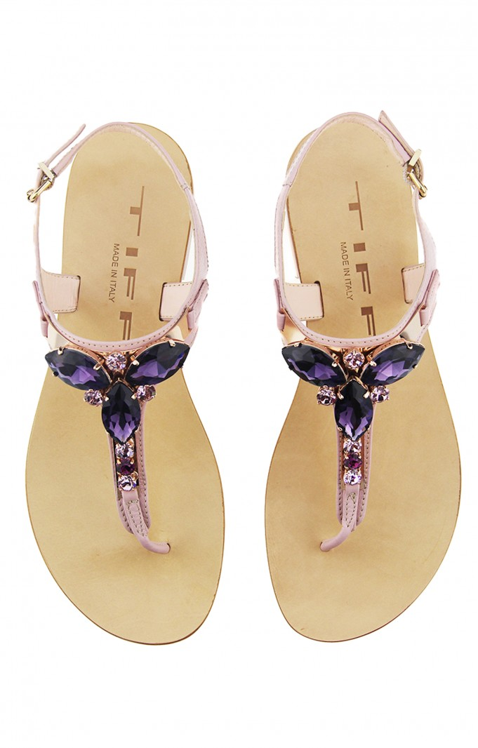 Tiffi Sandals Pink with Cristales