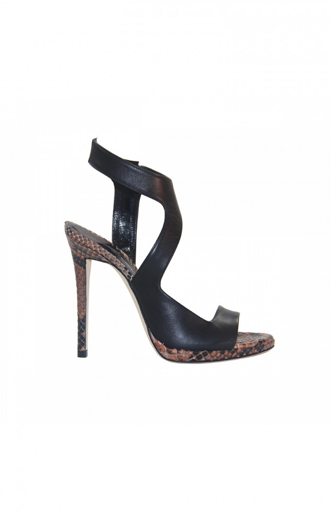 High heels shoes Merlyn NAPPA BLACK / PYTHON