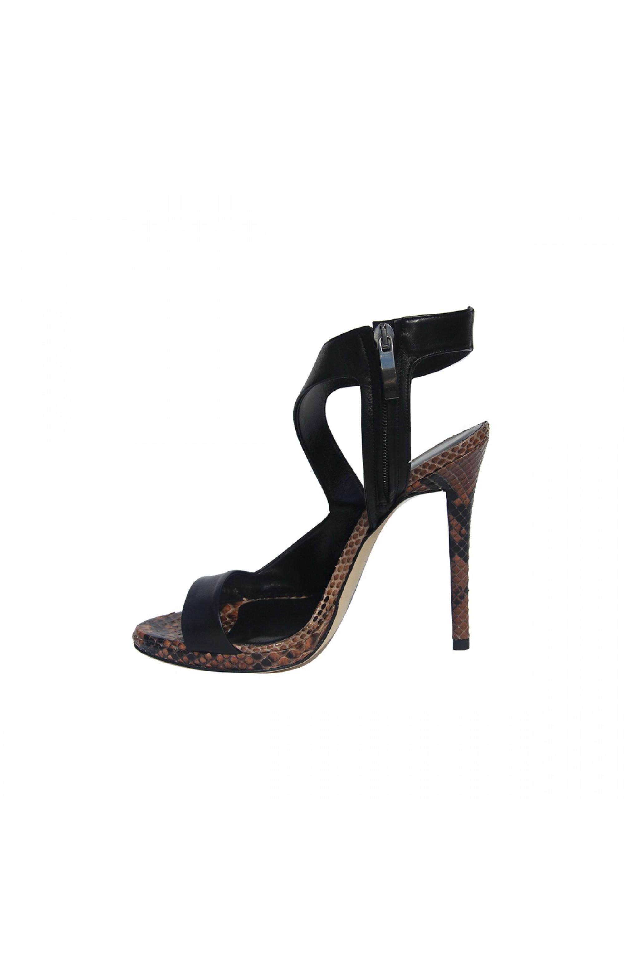 Merlyn Leder High Heels Schuhe NAPPA BLACK