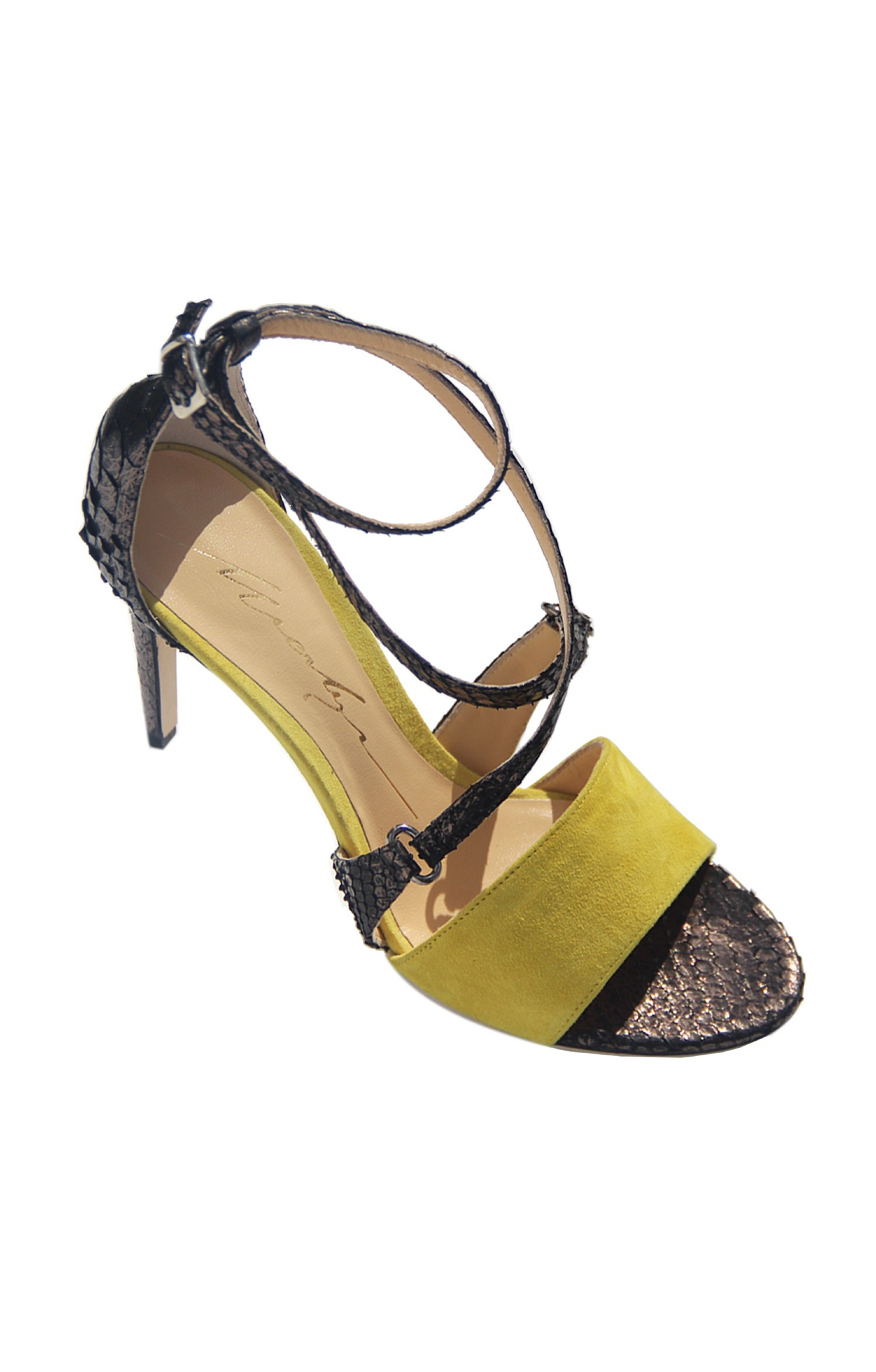 Merlyn Leder High Heels YELLOW SUEDE